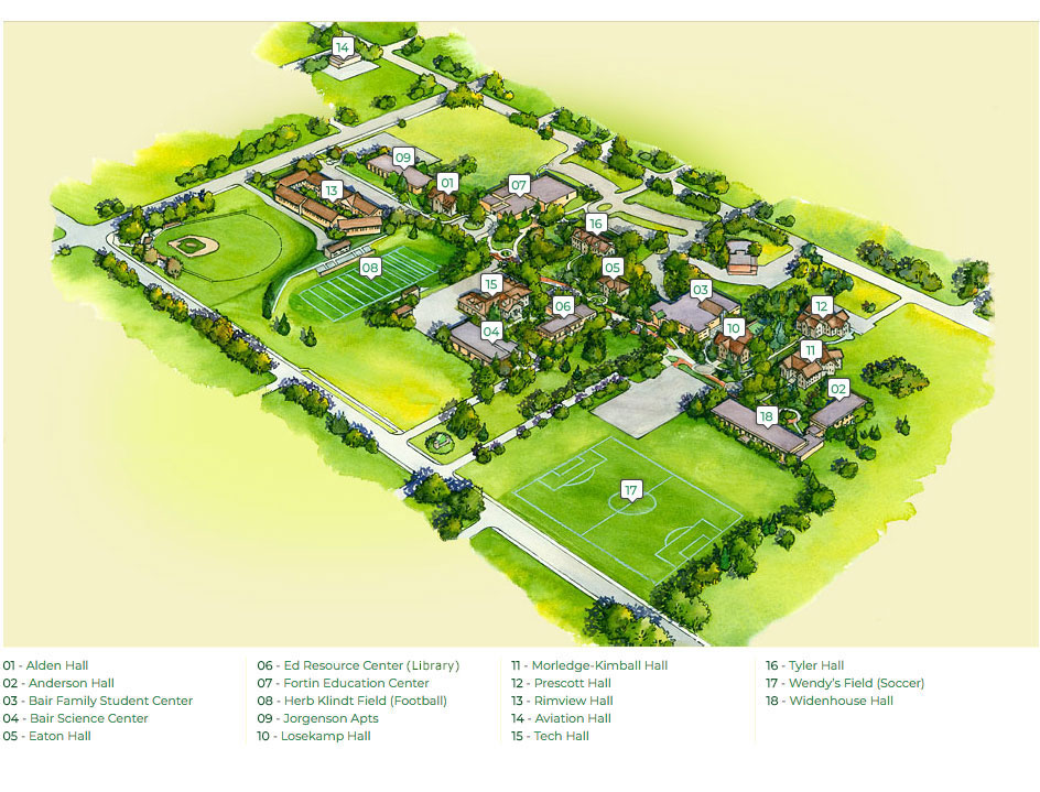 Rocky Mountain College Campus Map.Rocky Mountain College Map Rmc