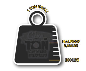 Give-a-Ton Food Drive Thermometer