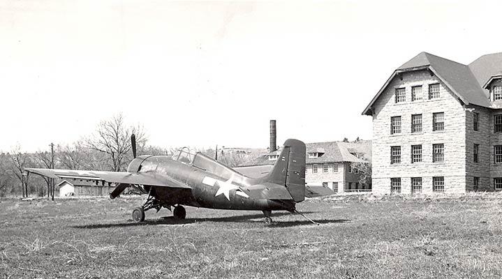 Historic Plane on Campus