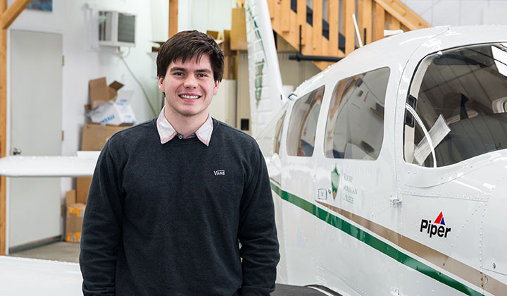 Luke Ward aviation student