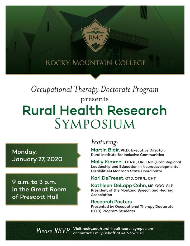 RMC OTD Rural Health Care Symposium